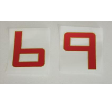 Numero pour maillot domicile